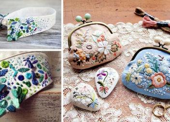 Вишиті аксесуари: комірці, метелики, ґудзики та гаманці