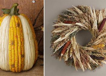 Осінній еко-декор з кукурудзи: 27 фото