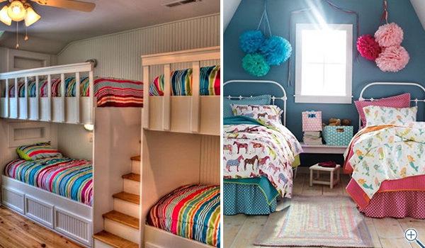 Дизайн дитячих кімнат для двох і більше малюків (25 фото)