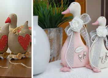 Гуси-лебеді: ідеї та викрійки м'яких іграшок