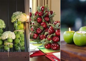 Осінні композиції з яблуками