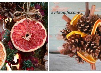 Сушені апельсини в декорі