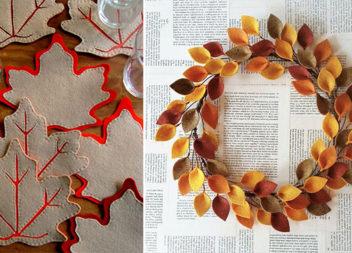 Декор з фетру: 25 осінніх ідей