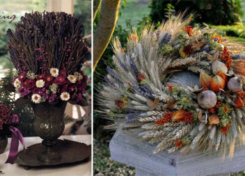 Осіння флористика: 38 ідей з сухоцвітами