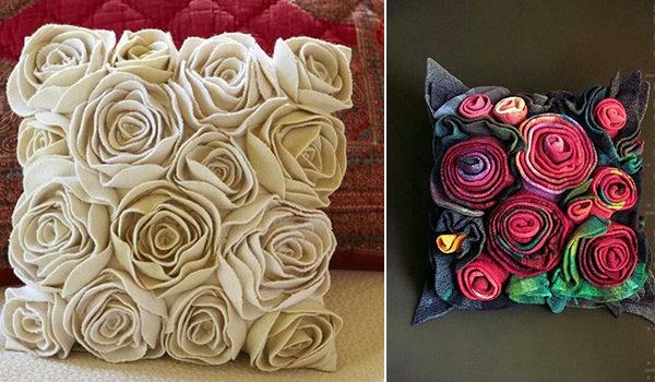 Декоруємо диванні подушки фетром: 30 ідей та майстер-класів