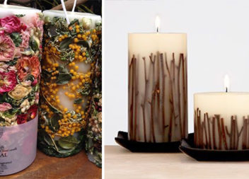Декоративні свічки з сухоцвітами: 23 ідеї