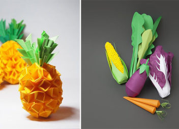 Фрукти та овочі з паперу: 29 ідей для творчості з дітьми