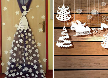 Декорації до зимових свят у садочках та школах (35 прикладів)