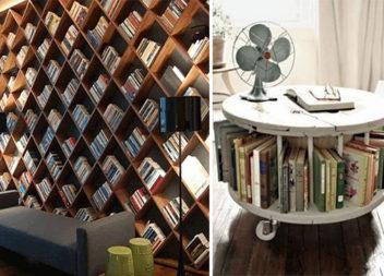 Домашня бібліотека: 17 геніальних ідей для зберігання книг