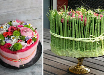 Букети у вигляді тортів: 32 незвичні флористичні ідеї
