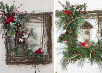 Красиві новорічні декорації з гілок: 16 фото