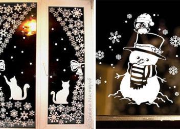 Декоруємо вікна витинанками до зимових свят: 30 ідей та 20 шаблонів