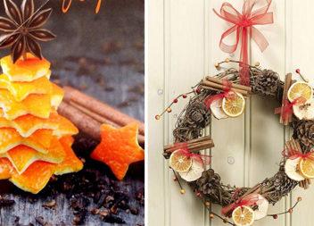 Запашний декор: ідеї віночків, гірлянд та підвісок із цитрусових (27 фото)
