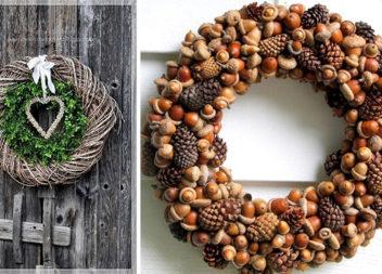 Декоративні віночки з природних матеріалів: 36 ідей (фото)