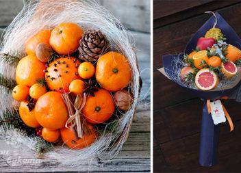 Святкові букети із цитрусових (25 ідей із неймовірним запахом)