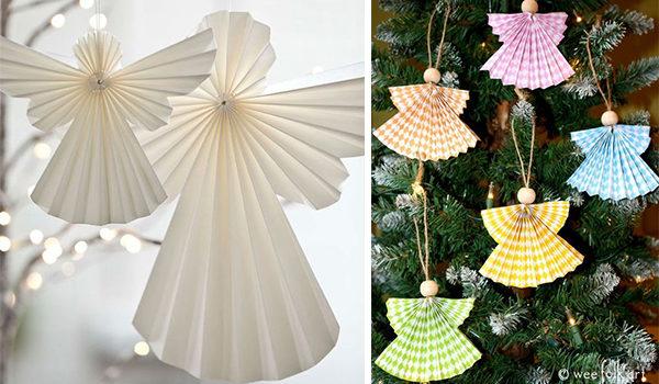 Різдвяний янгол із паперу: творимо красу власноруч (шаблони та ідеї)
