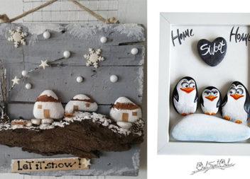 Зимові композиції із розмальованих камінців (25 ідей для творчості)