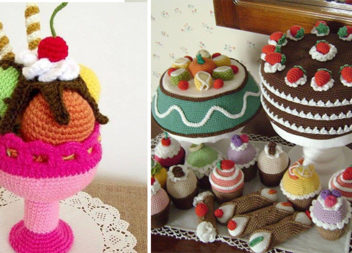 Ідеї в'язаних тортиків і десертів (30 ідей)