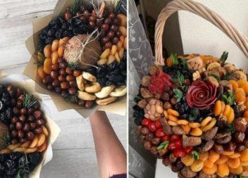 Як зробити букет з горіхів та сухофруктів (поради, відео та ідеї)