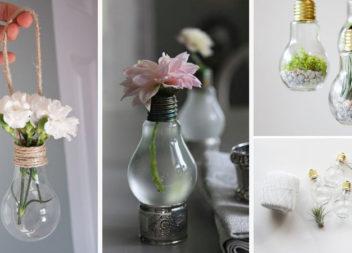 Незвичні ідеї перетворення старих лампочок на вази (17 фото)