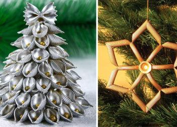Новорічний декор із макаронів (30 ідей)