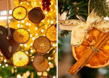 Святковий ароматний декор із засушених цитрусових (способи сушіння та майстер-класи)