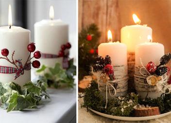Декоруємо Різдвяну свічку самотужки (37 варіантів оформлення)