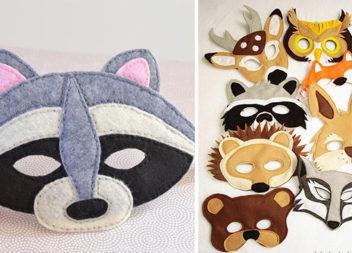 Новорічні маски із фетру. Шиємо самотужки до дитячого свята