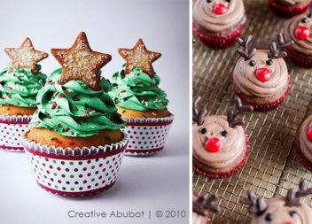 Смачні новорічні кекси: прикрашаємо в зимовому стилі (17 фото)