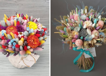 Даруємо чарівні букети із сухоцвітів. 10 кольорових ідей