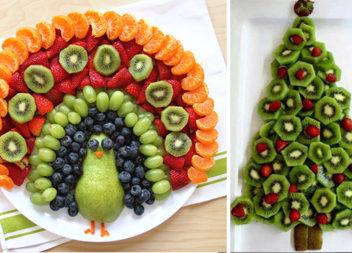 Оформляємо фрукти та овочі до новорічного столу (20 варіантів)