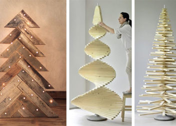 Новорічна ялинка із використанням деревини: 36 ідей дизайну
