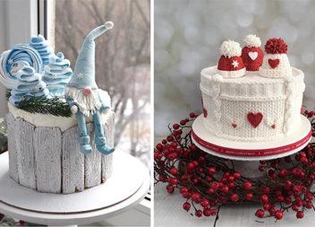 Коли новорічний торт - витвір мистецтва! Більше 60 ідей для оформлення десерту