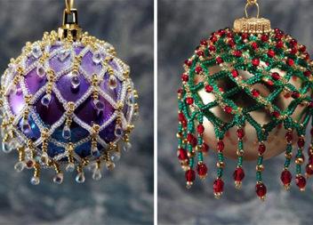 Декоруємо бісером ялинкові кульки (25 дуже творчих ідей)