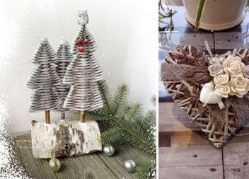 Різдвяний декор із газетних трубочок: 41 фото для реалізації самотужки