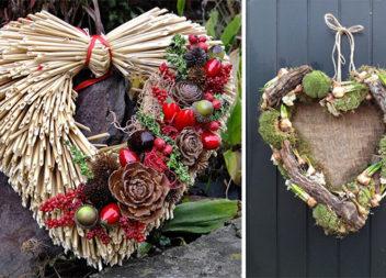 Святкові віночки у формі серця (25 красивих ідей)