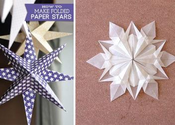 Сніжинки та зірочки в техніці орігамі (майстер-класи)