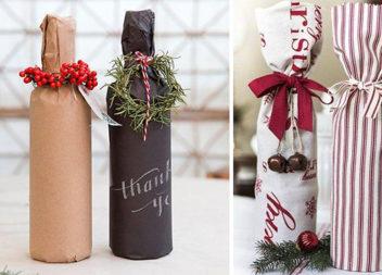 Прикрашаємо пляшку до Нового року (25 ідей)