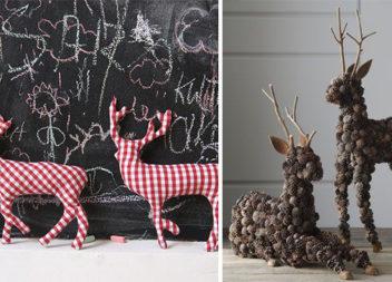 Виготовляємо різдвяних оленів з різних матеріалів (35 ідей)