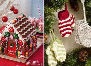 В'язані аксесуари на новорічне свято своїми руками