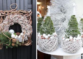 Святковий декор із гілочок та лози (25 красивих ідей)