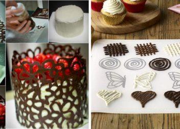 Декор із шоколаду для десертів та тортів (20 фото)