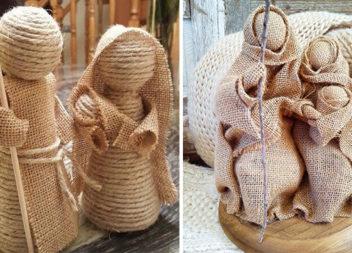 Створюємо міні-шопку із мішковини та джгутової мотузки (15 ідей)