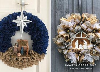 Різдвяний вінок: красива композиція на вхідні двері