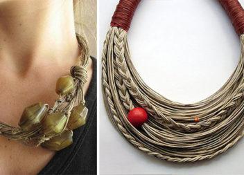 З мотузки і жмені намистин може вийде неймовірна краса. Майстер-клас та ідеї