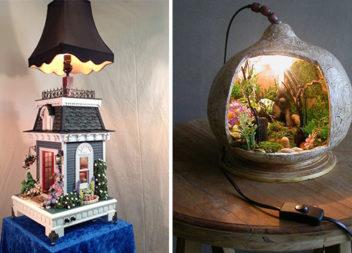 Настільна лампа як витвір мистецтва: більше 20 красивих ідей
