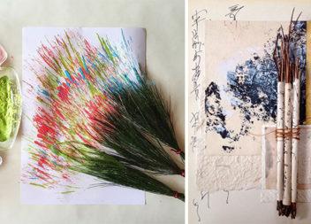 Робимо пензлі для малювання із природних матеріалів