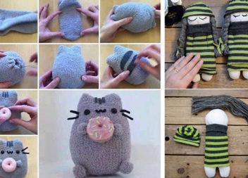 Друге життя старих шкарпеток: ідеї та майстер-класи (64 фото)