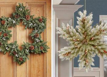 Різдвяні віночки у вигляді сніжинок та зірочок (26 фото)