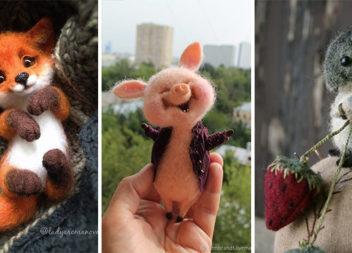 Милі тваринки в техніці валяння: ідеї та майстер-класи (50 фото)